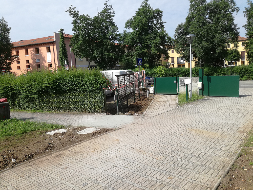 Aiuole e fioriture in centro residenziale anziani a Castelfranco Veneto