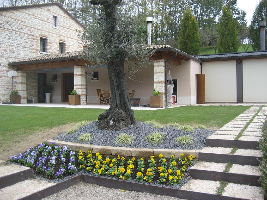 Progetto aiuole con graminacee e fiori stagionali verde idea for Realizzazione giardini privati