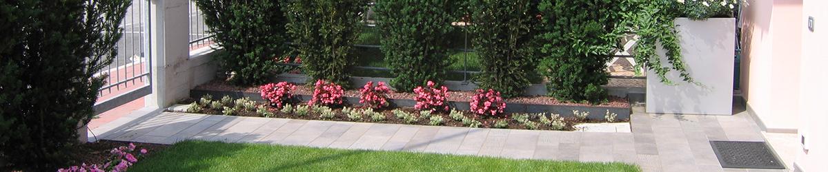 immagine progetto giardino fiorito geometrico