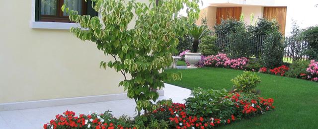 progetto piccolo giardino con fioriture stagionali - verde idea - Giardino Piccolo Progetto