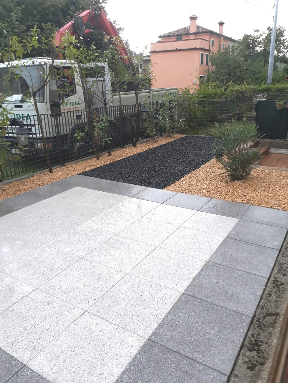 realizzazione giardino con graniglie a Mussolente foto 2