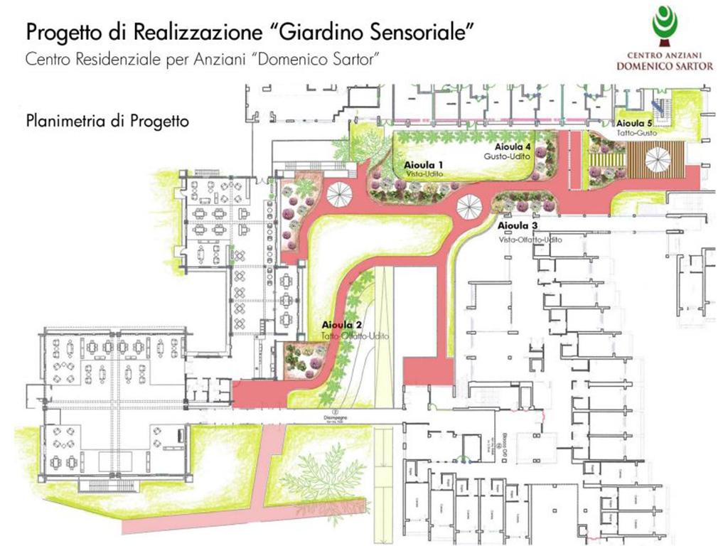 realizzazione giardino sensoriale a Castelfranco Veneto foto 2