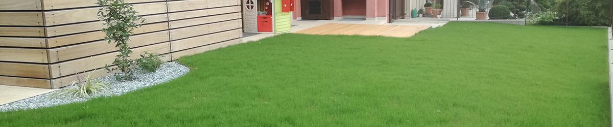 foto realizzazione giardino con prato a semina Asolo