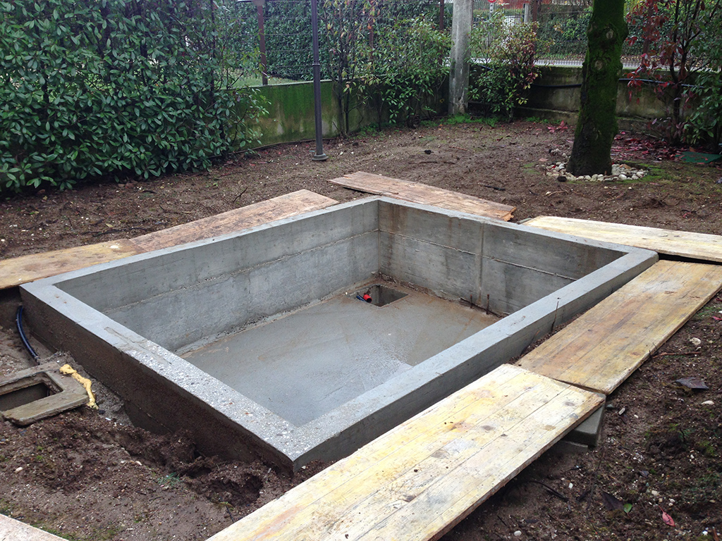Progetto spa in giardino privato verde idea for Realizzazione giardini privati